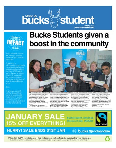 The bucks student edition 25 by the bucks student issuu page 1 fandeluxe Gallery