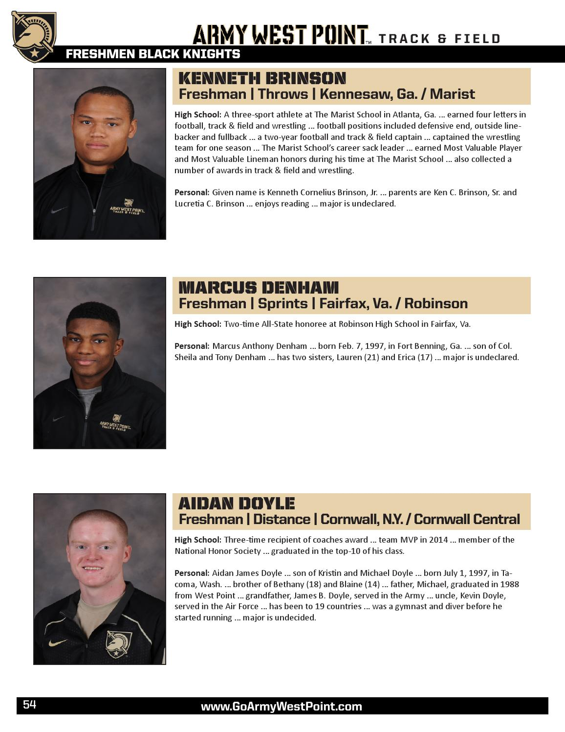 2015-16 Men's Track & Field Media Guide by Army West Point Athletics