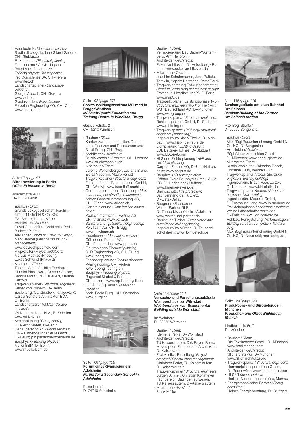 Generalunternehmer Stuttgart best of detail beton by detail issuu