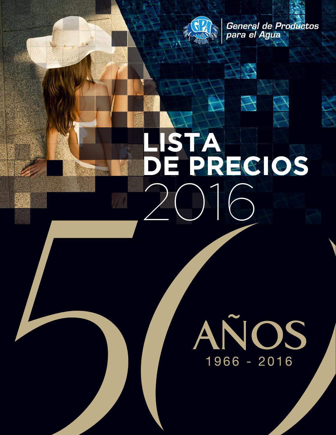 Lista de precios 2016 pdf by Carlos Leal - issuu