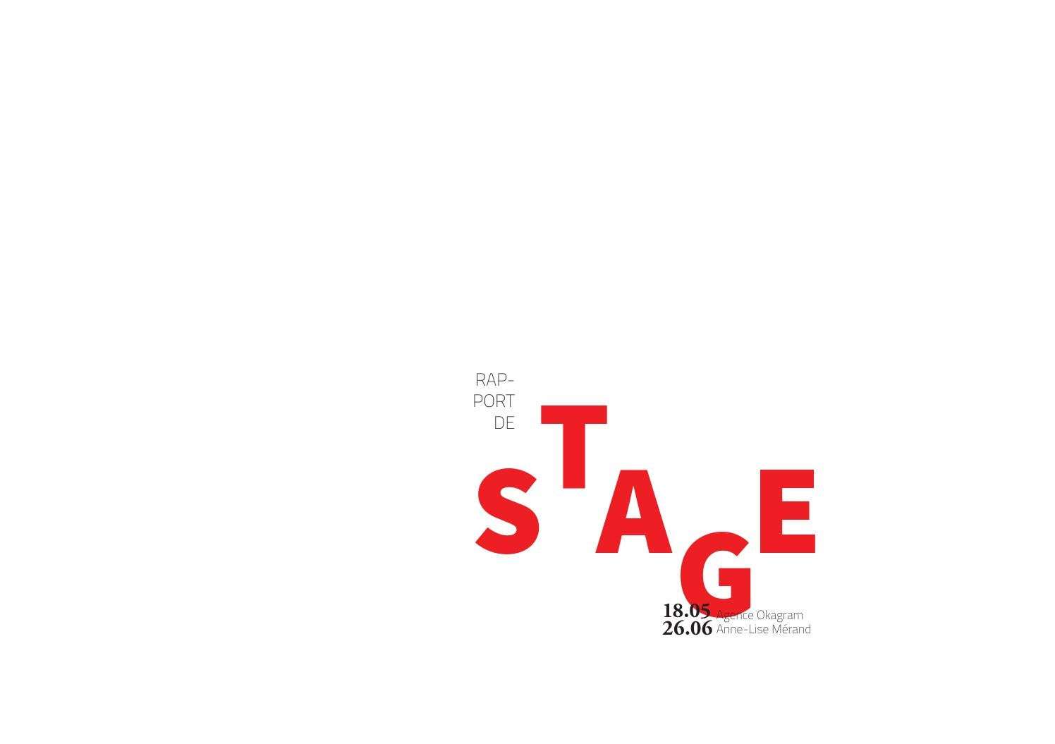 Rapport De Stage Bts Design Graphique By Anne Lise Mérand