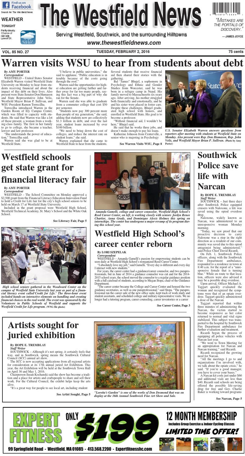 Tuesday, February 2, 2016 by The Westfield News - issuu