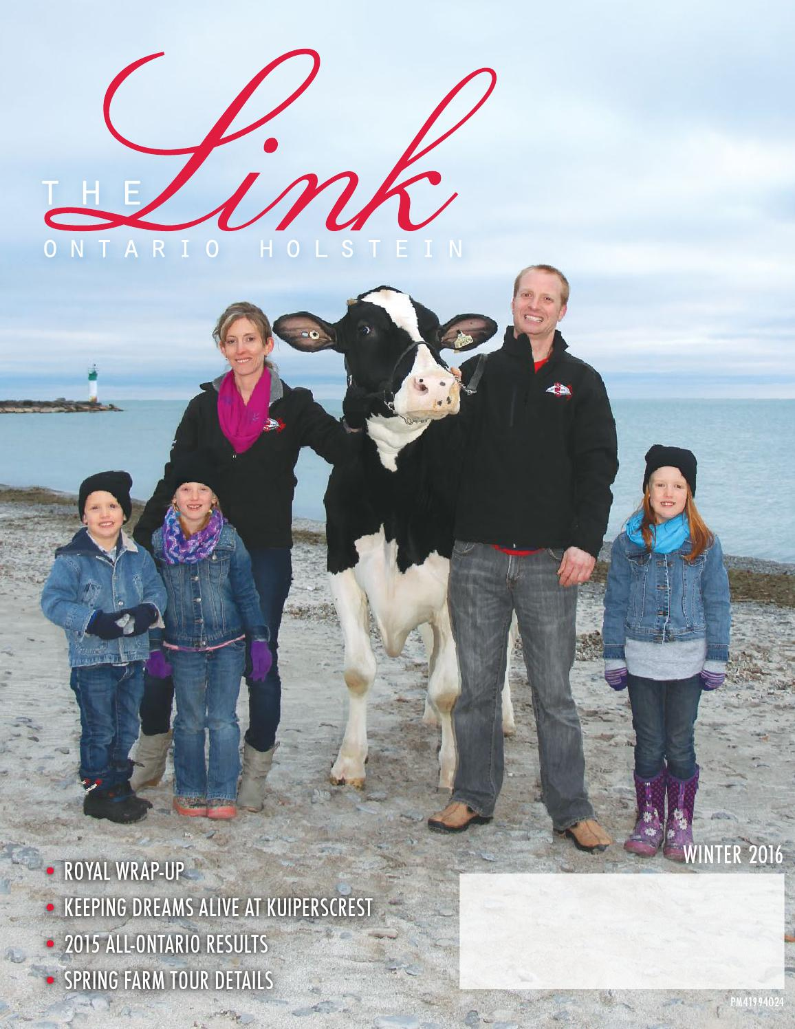 The Link Magazine Winter 2016 By Ontario Holstein Branch