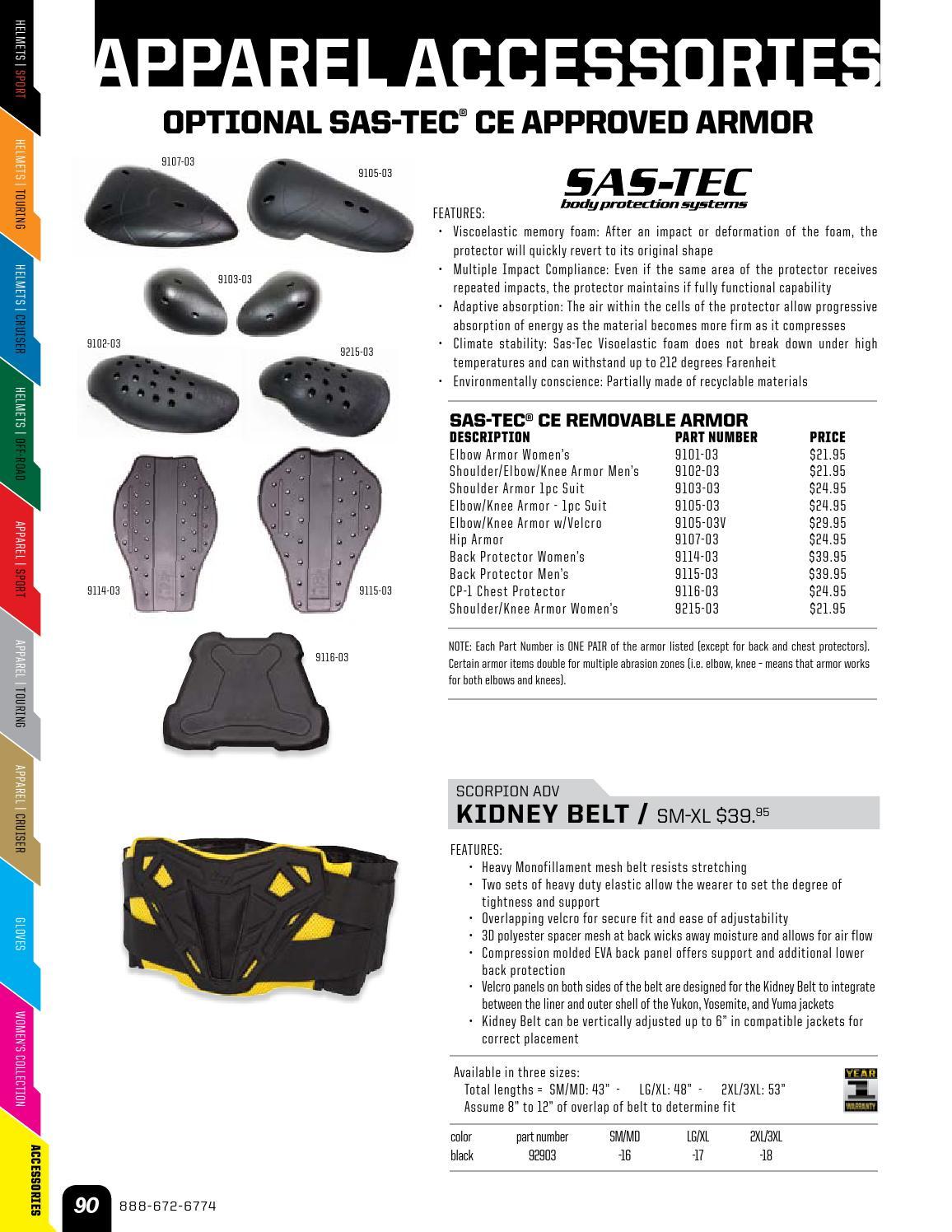 Combined Chest & Back Protectors Scorpion EXO Mens Mens SAS-TEC CE ...