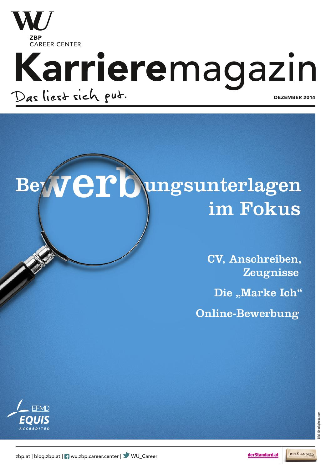 Karrieremagazin 4/2014 by WU ZBP Career Center - issuu