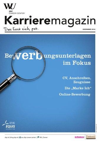 Karrieremagazin 4/2014 by WU ZBP Career Center - issuu