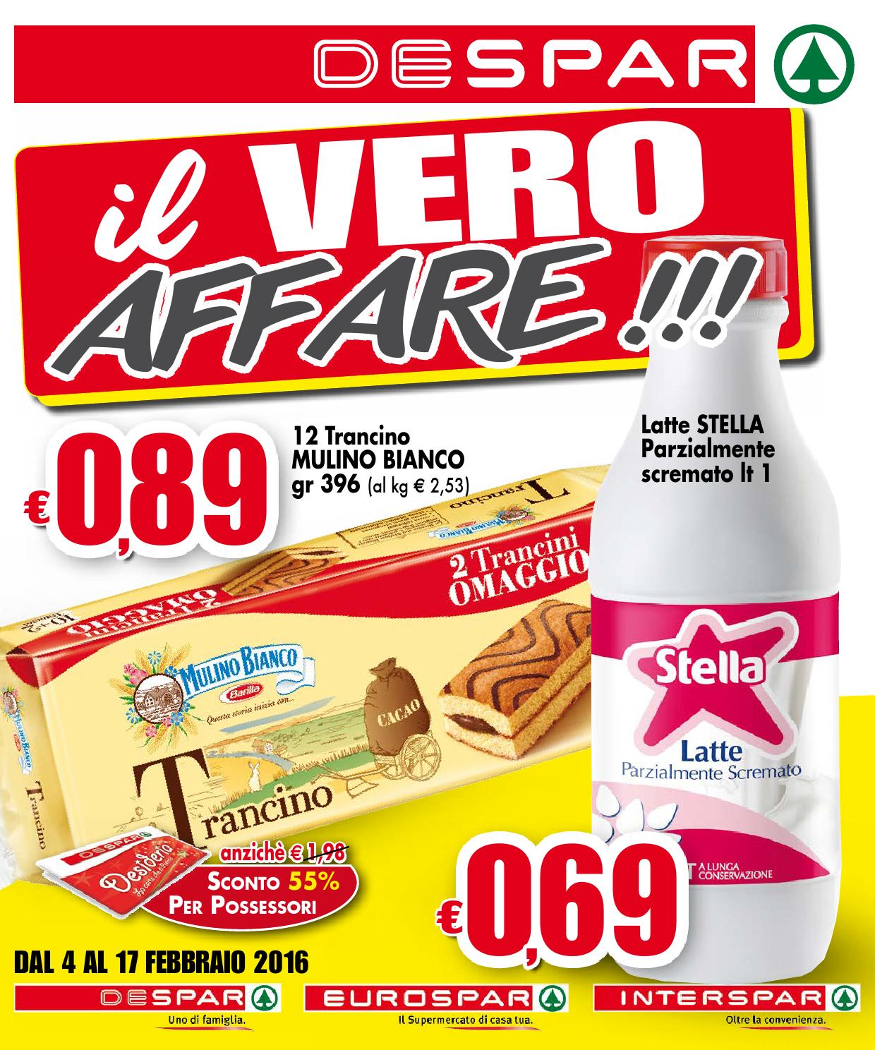 Volantino despar eurospar interspar dal 4 al 17 for Volantino despar messina e provincia