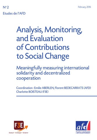 Analysis, Monitoring, and Evaluation of Contributions to Social ... dec18015e931