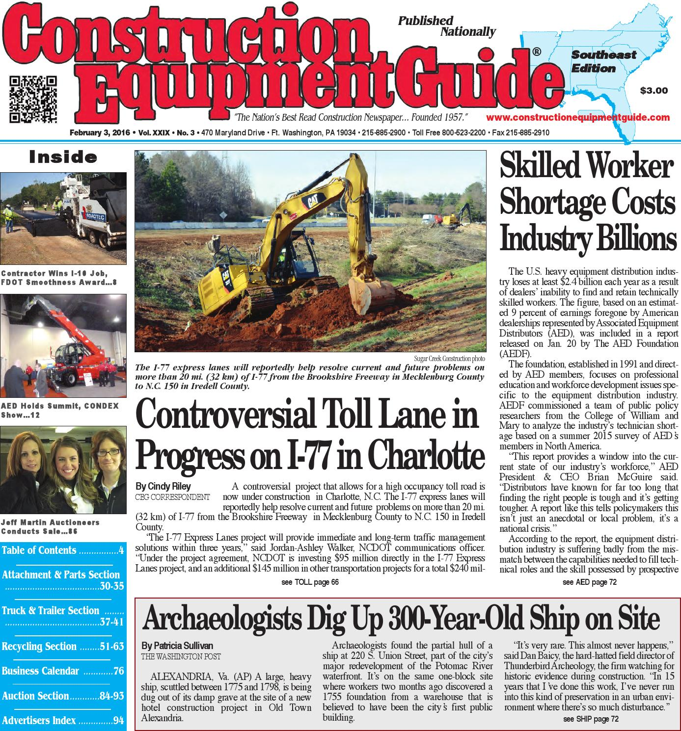 Southeast 03 2016 by Construction Equipment Guide - issuu