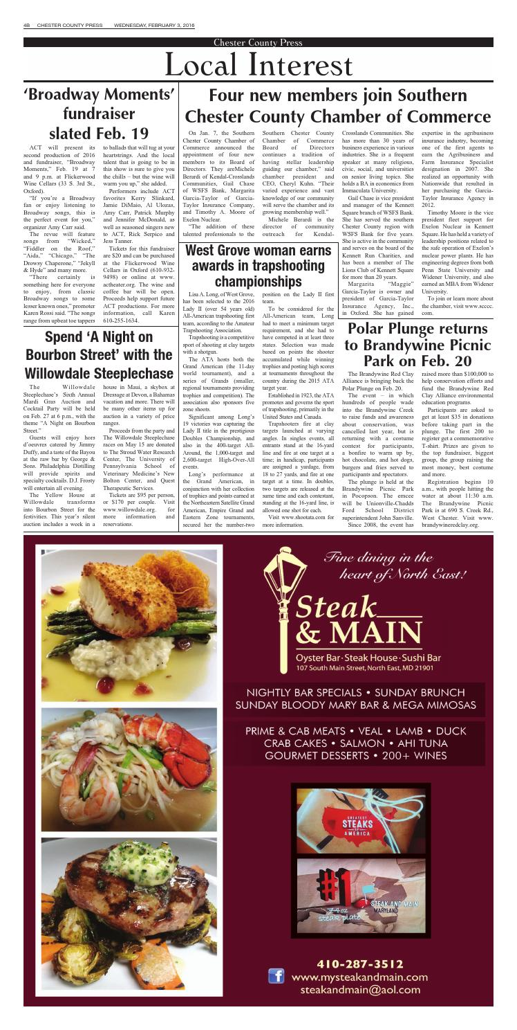 Chester County Press 02-03-2016 Edition by Ad Pro Inc  - issuu