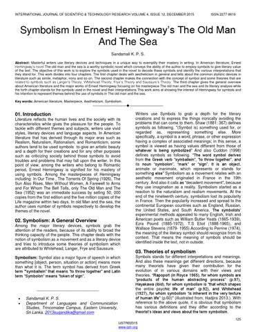 the use of symbolism in ernest hemingways literary work Understanding hemingway's style swvega download let  south western high school writing style literary techniques flashback vivid imagery unique symbolism.