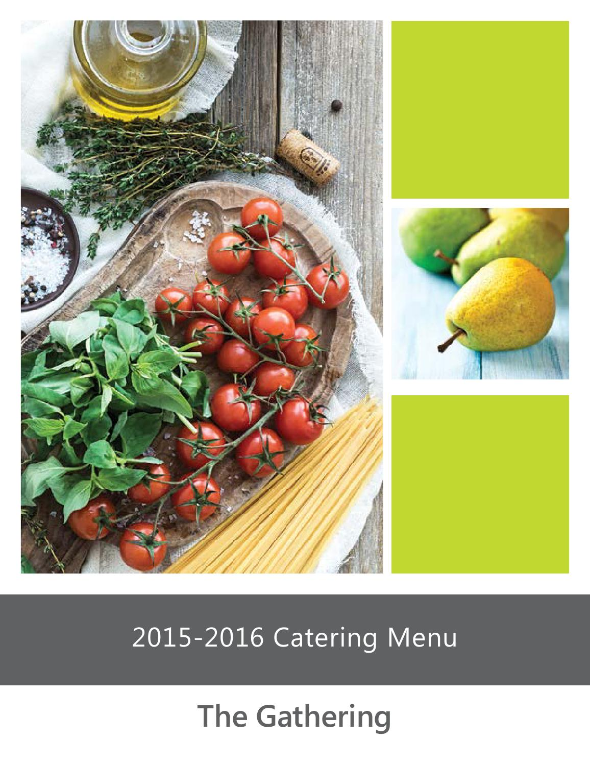 Chartwells Catering Guide 2016 by Chartwells at Schreiner ...