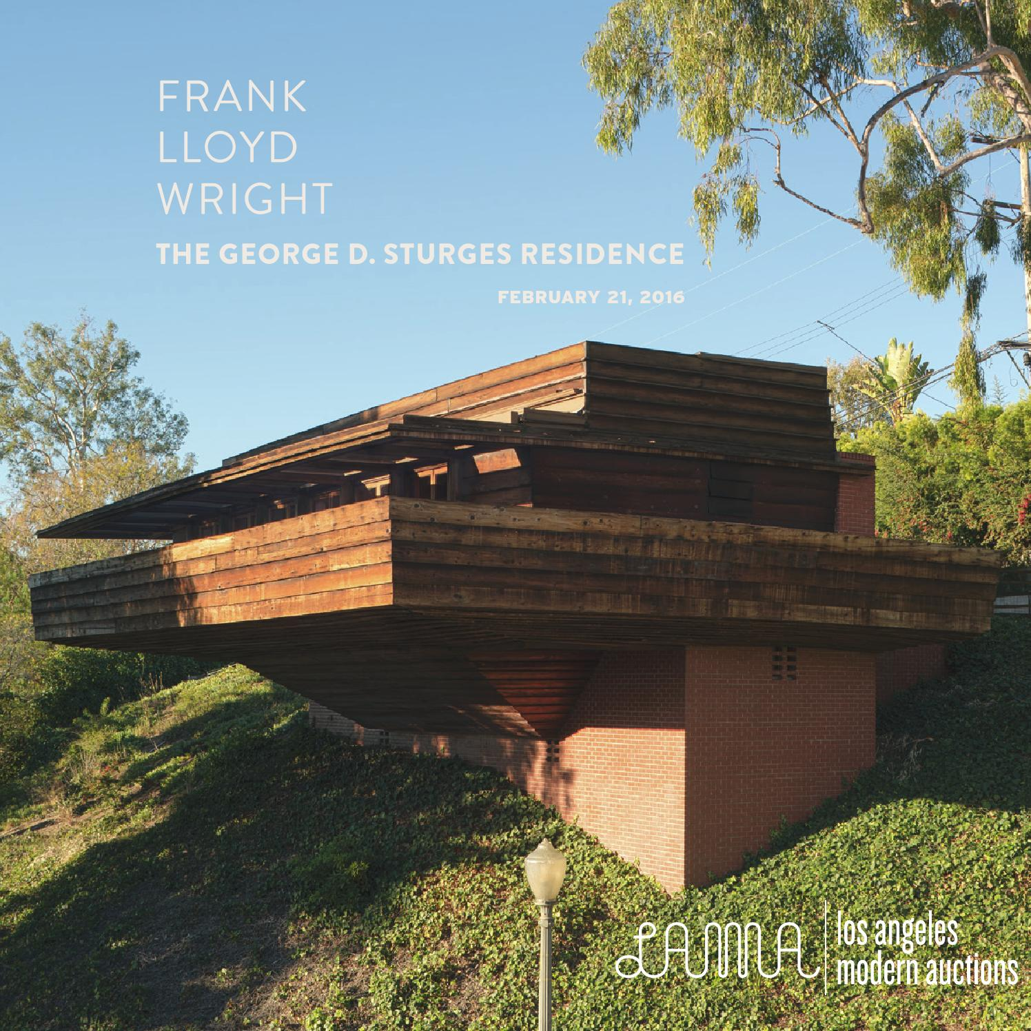 the frank lloyd wright george d sturges residence by los angeles modern auctions issuu. Black Bedroom Furniture Sets. Home Design Ideas