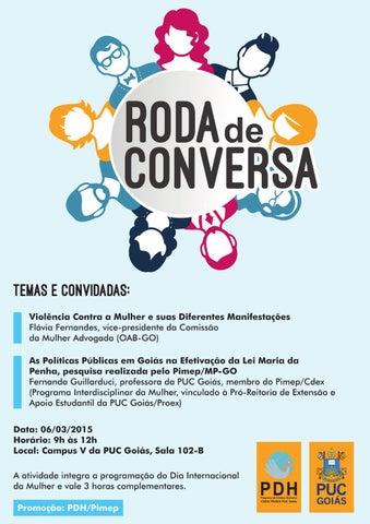Cartaz Roda de Conversa - PDH PUC Goiás by Douglas Freitas ...