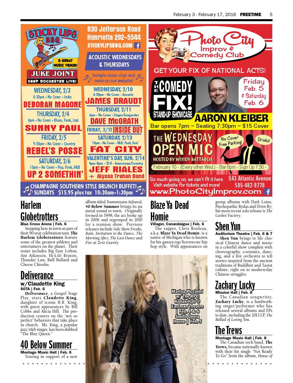 Freetime Magazine • February 3 - February 17, 2016 by Freetime Magazine - issuu