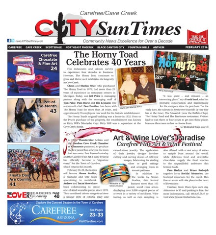 Carefree Cave Creek February 2016 Issue of CITYSunTimes by