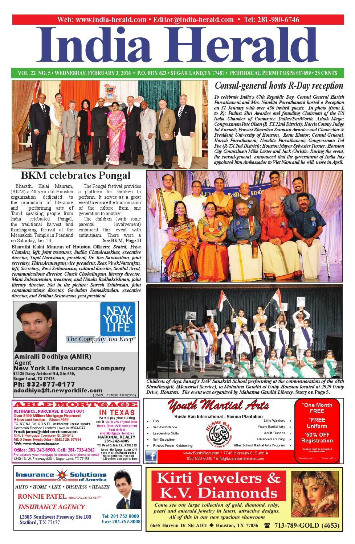 India Herald 020316 by India Herald - issuu