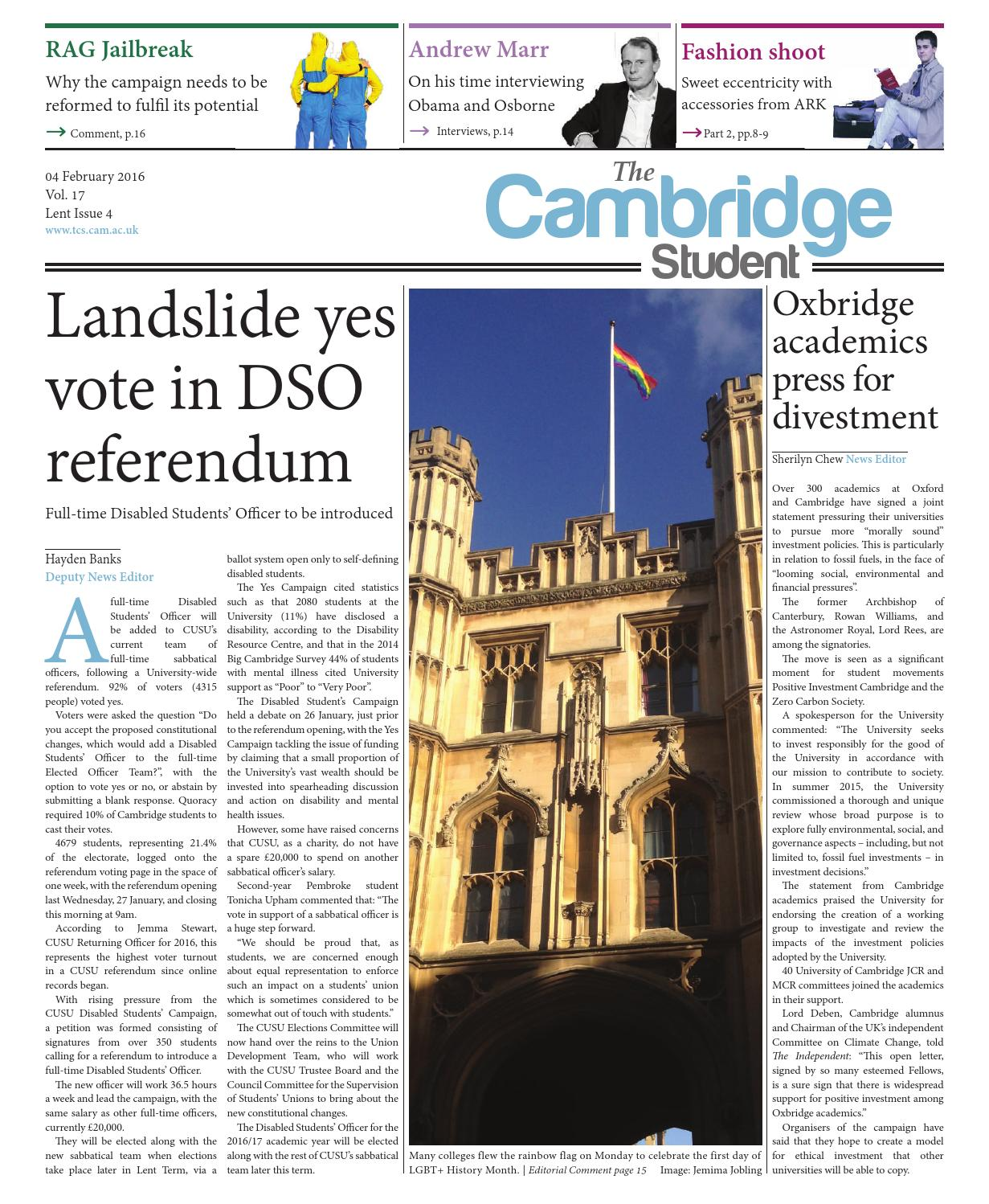 Lent 2016 Issue 4 By The Cambridge Student Issuu