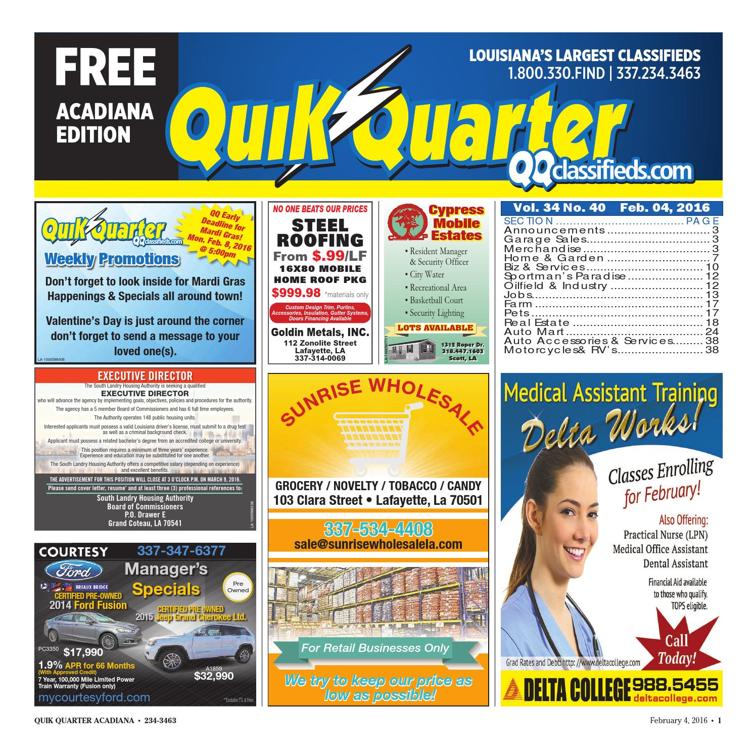 Qqacadiana 02042016 By Part Of The Usa Today Network Issuu 120240 Volt 3 Phase Delta High Leg Electrician Talk 2016 Car Release