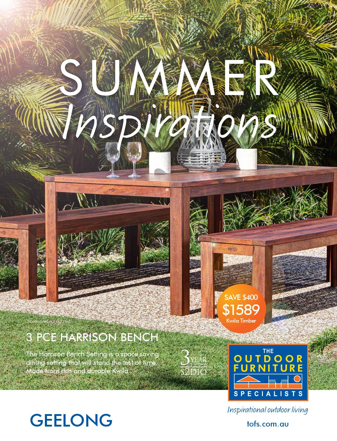 The outdoor furniture specialists geelong summer inspirations catalogue