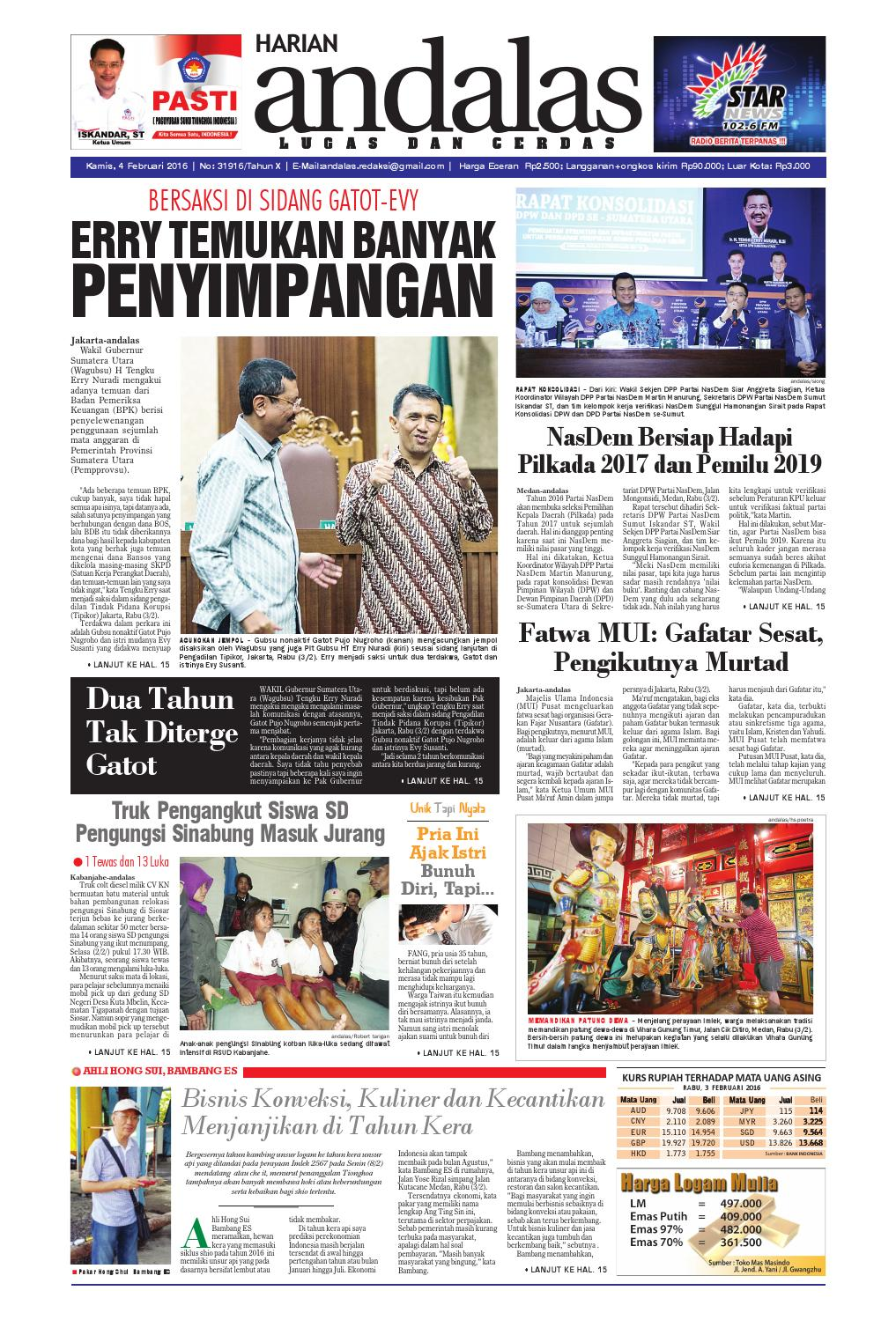 Epaper andalas edisi kamis 4 fabruari 2016 by media andalas - issuu db15f20c54