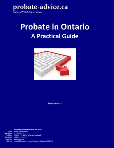Probate a practical guide by miltonsestatelaw issuu probate advice ontario wills estates law solutioingenieria