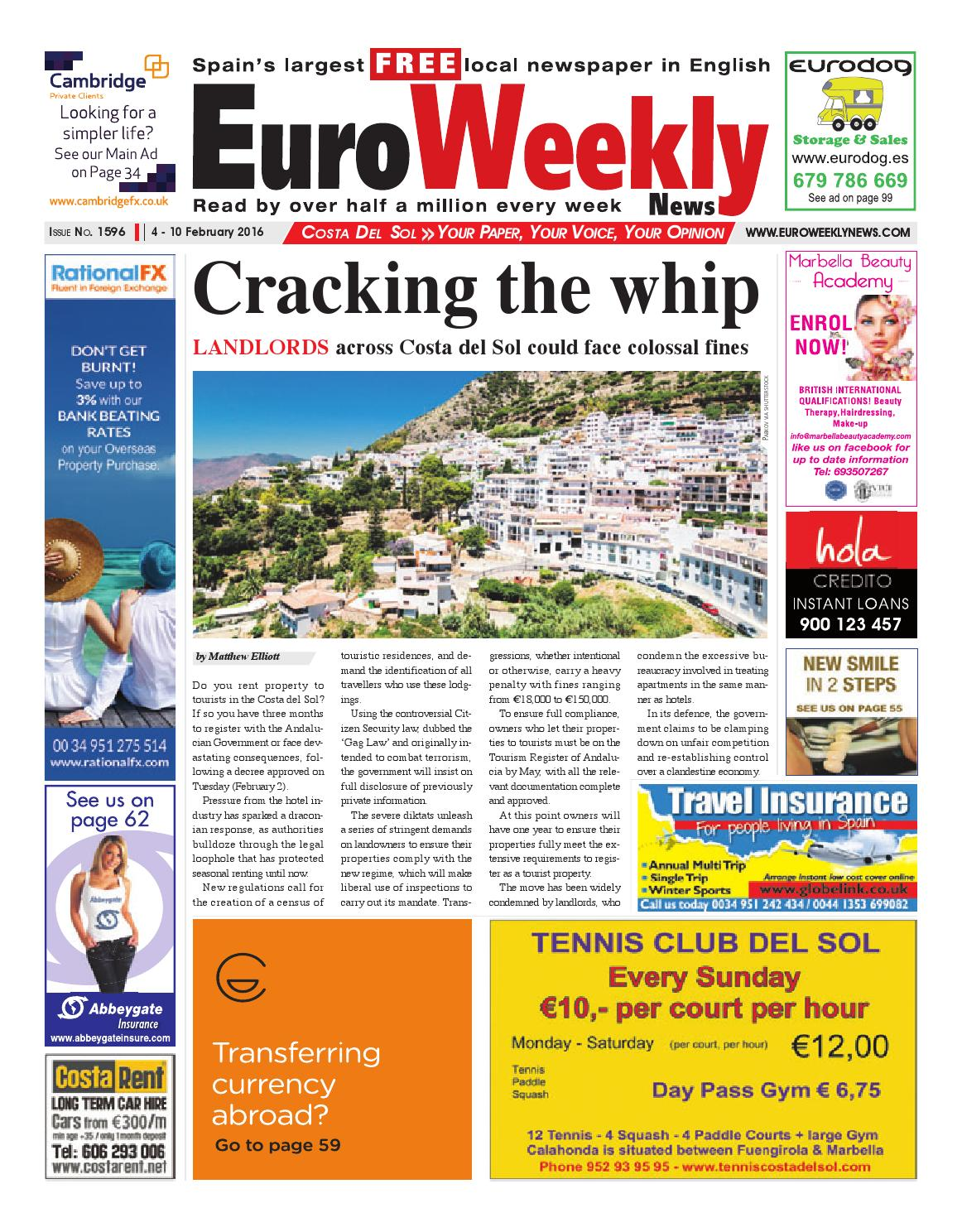 4f91d42ae03a1 Euro Weekly News - Costa del Sol 4 - 10 February 2016 Issue 1596 by Euro  Weekly News Media S.A. - issuu