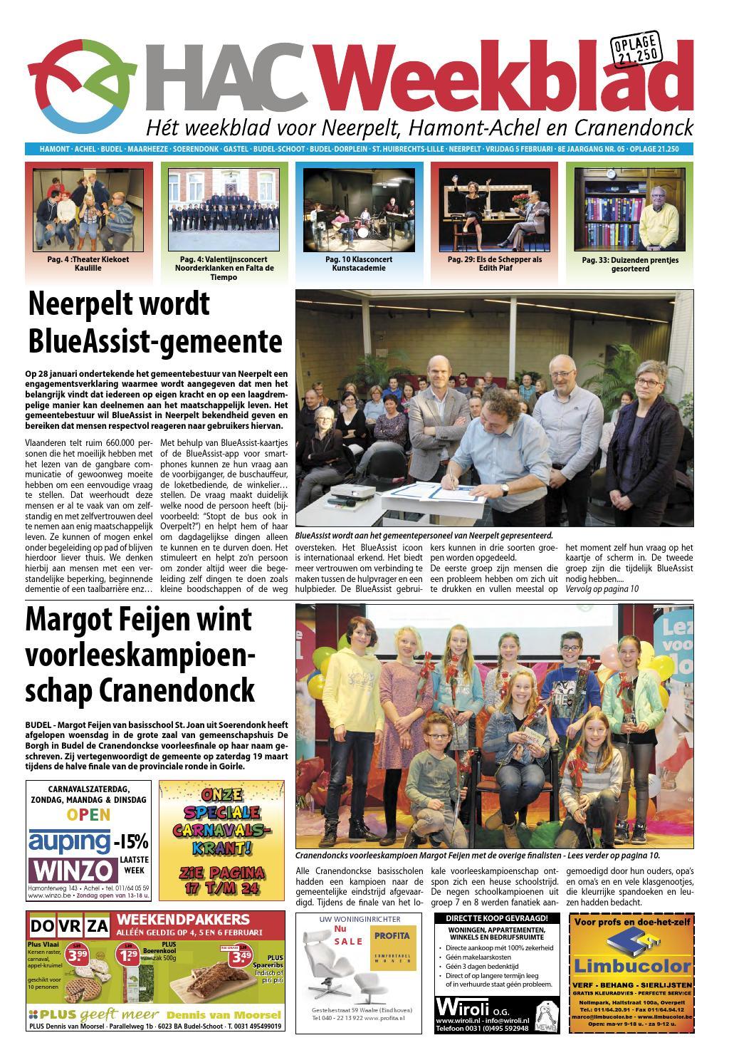 f7e328db9f8 HAC Neerpelt week 05 2016 by HAC Weekblad - issuu