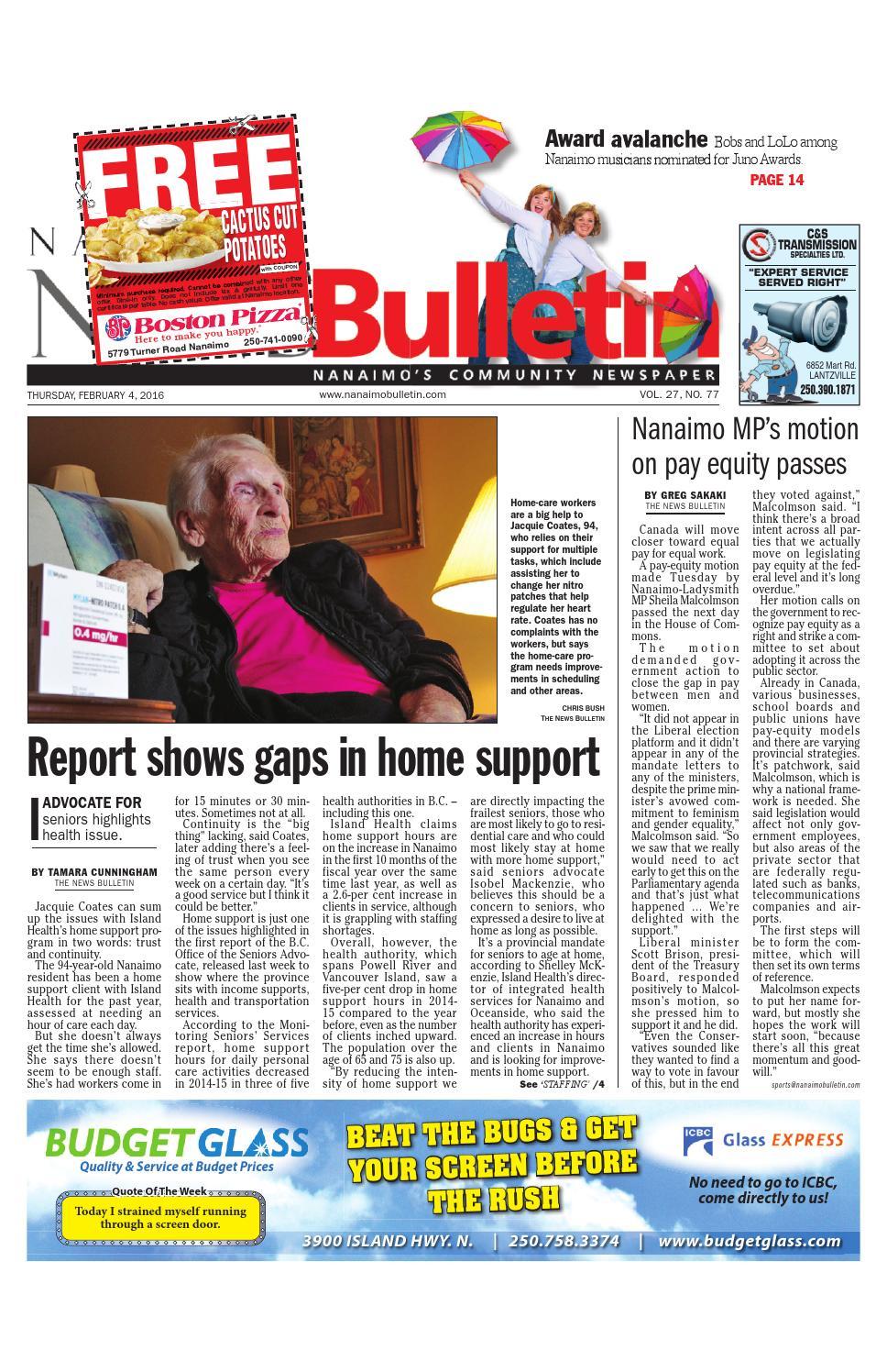 Bathmaster Nanaimo nanaimo news bulletin, february 04, 2016black press - issuu