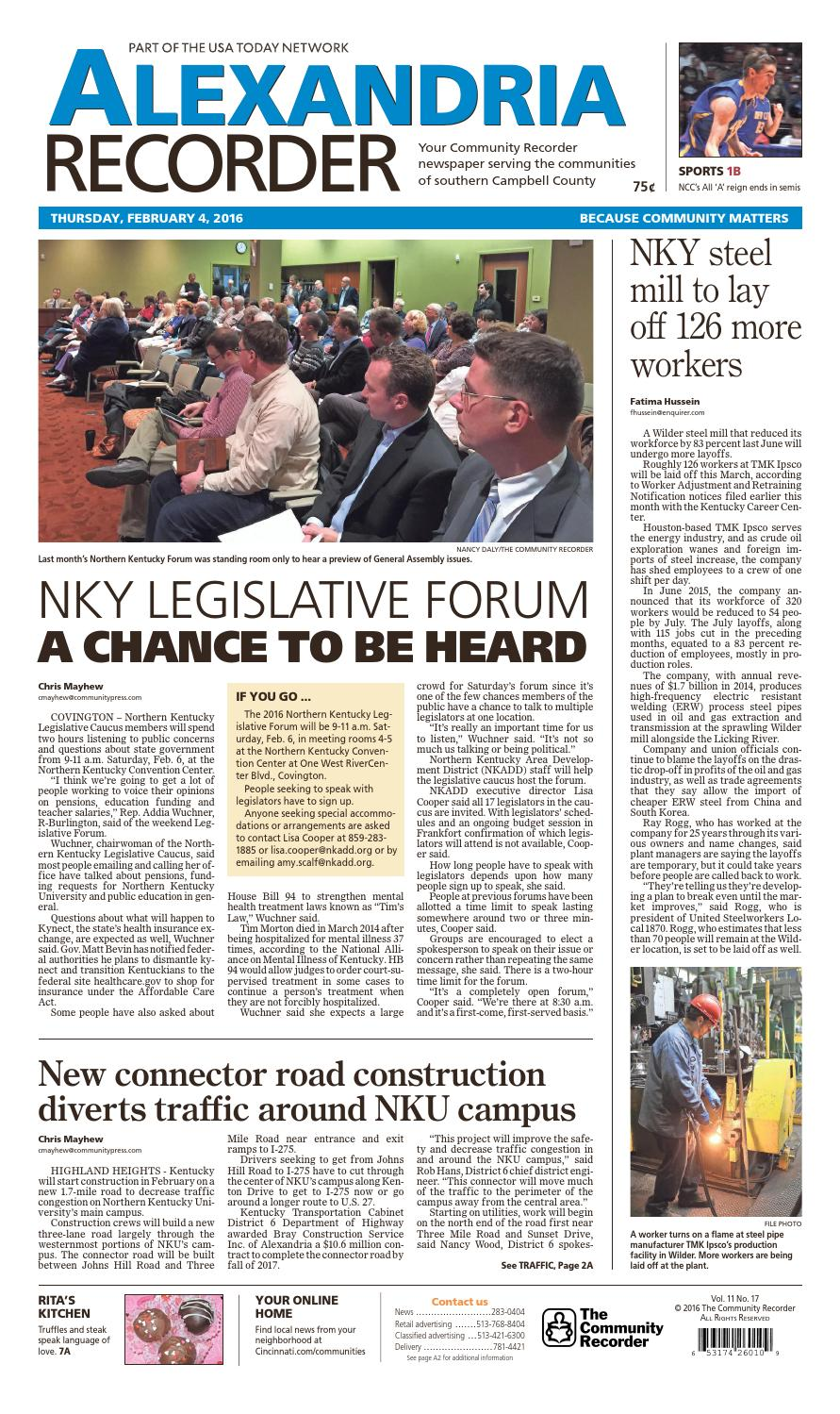 Alexandria recorder 020416 by Enquirer Media - issuu