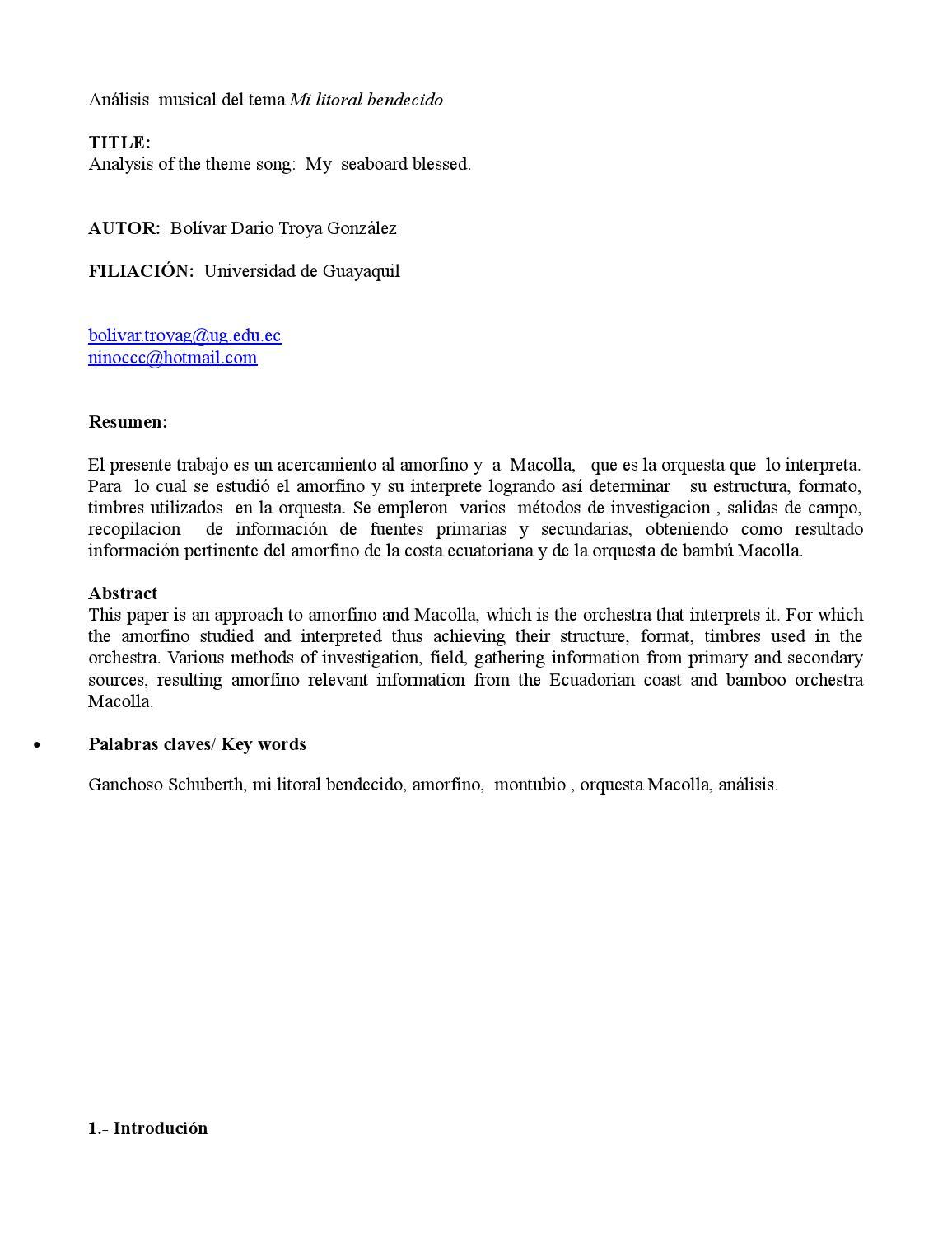 Bolivar Troya By Facultad De Artes Issuu