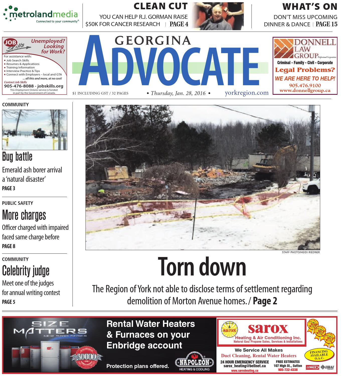 Georgina Advocate January 28 by Georgina Advocate - issuu
