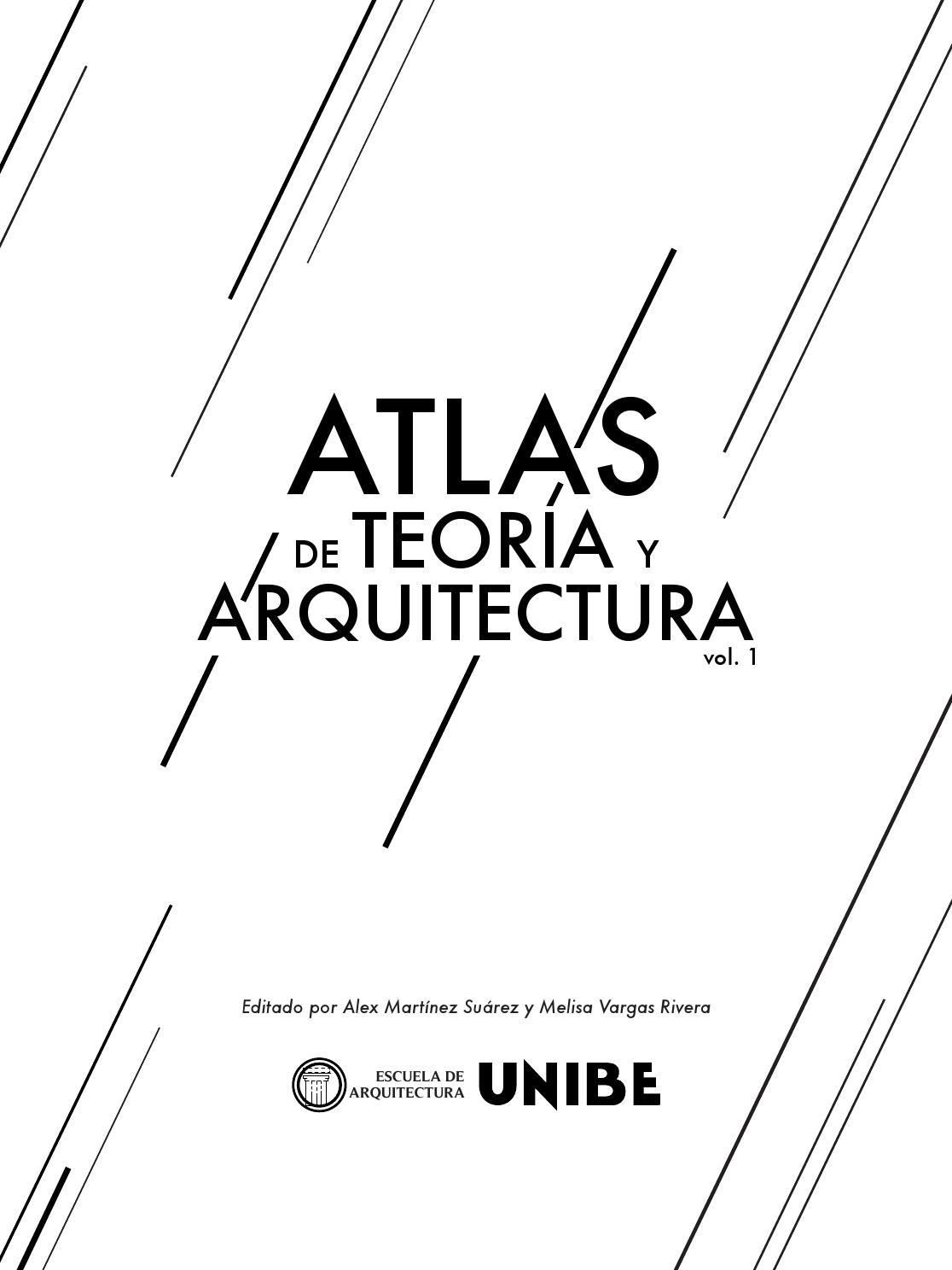 Atlas de Teoría y Arquitectura, Vol 1. by Teoría de la Arquitectura ...