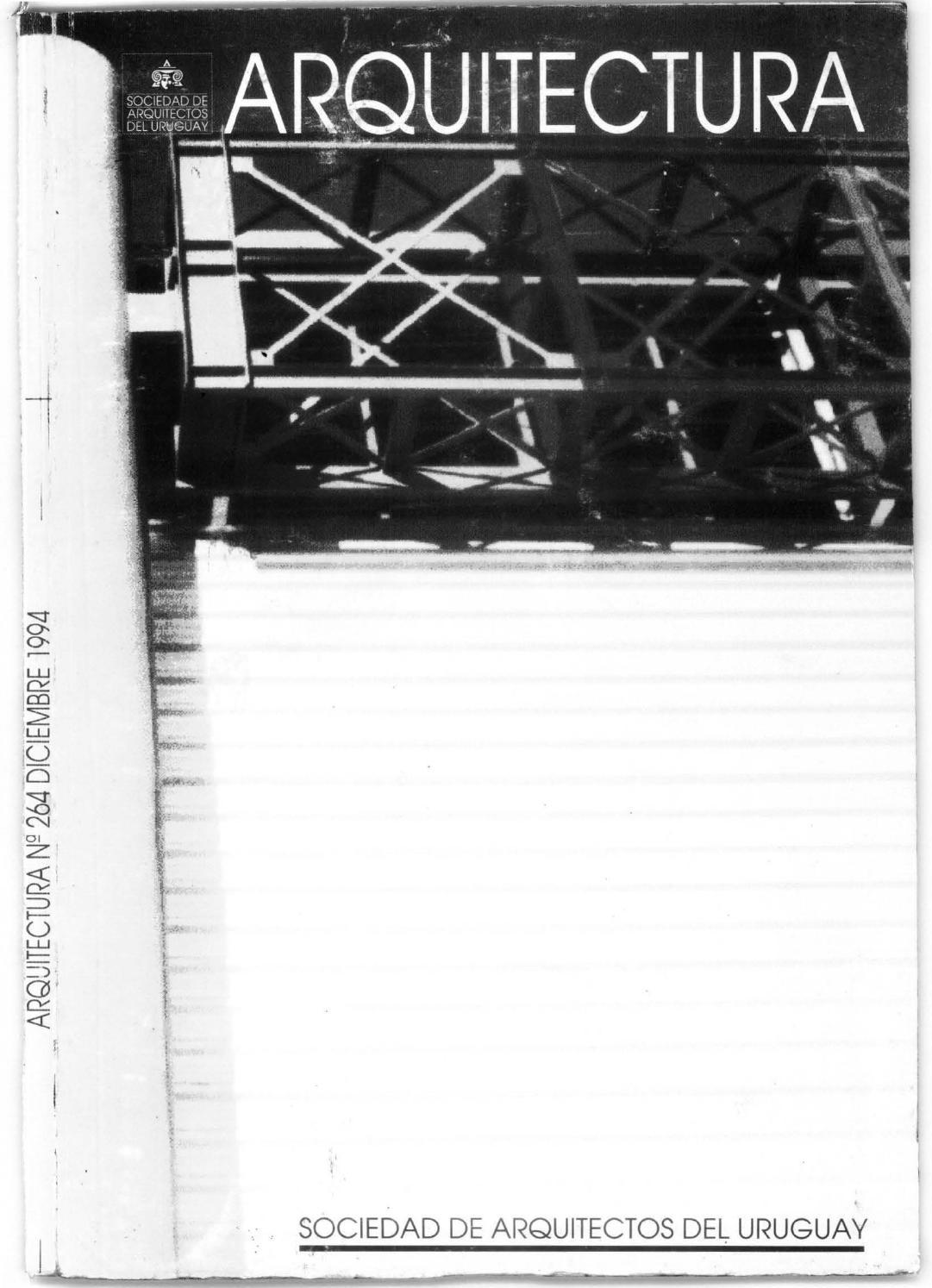 Arquitectura 264 1994 by sociedad de arquitectos del uruguay sau issuu - Sociedad de arquitectos ...