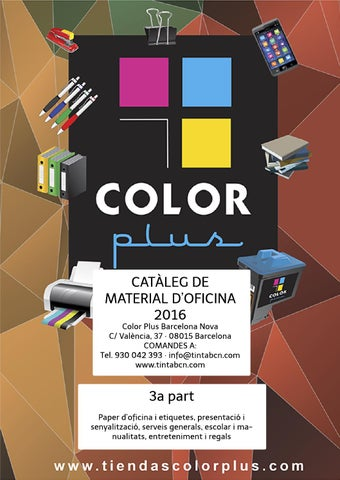 1b66ba2f9 Catàleg material oficina 2016 COLOR PLUS - 3a p by Color Plus ...