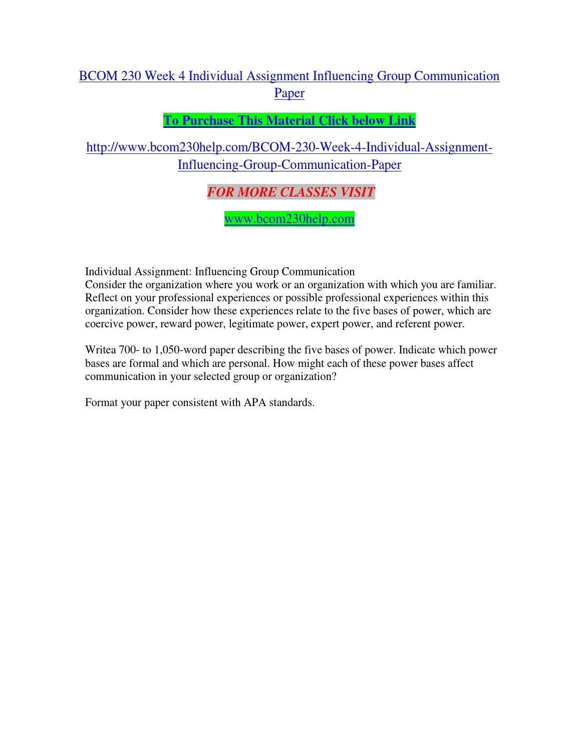 BCOM 230 UOP Course Tutorial / Uoptutorial
