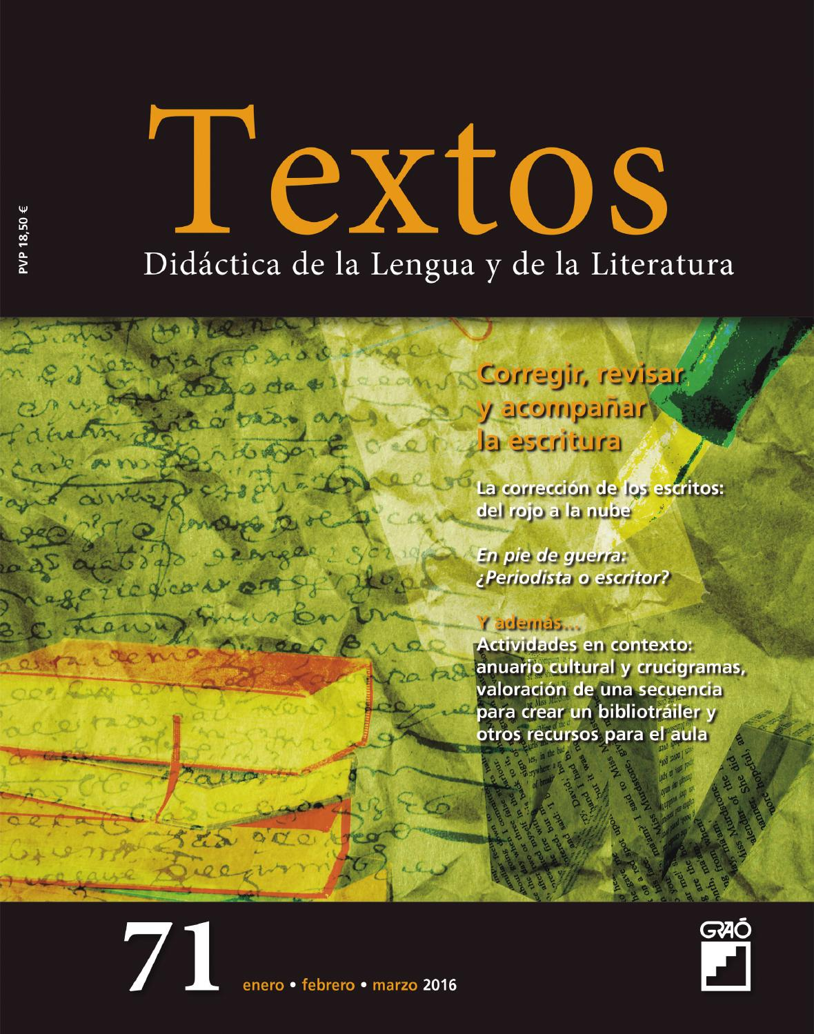 Textos 71 by Editorial Graó - issuu