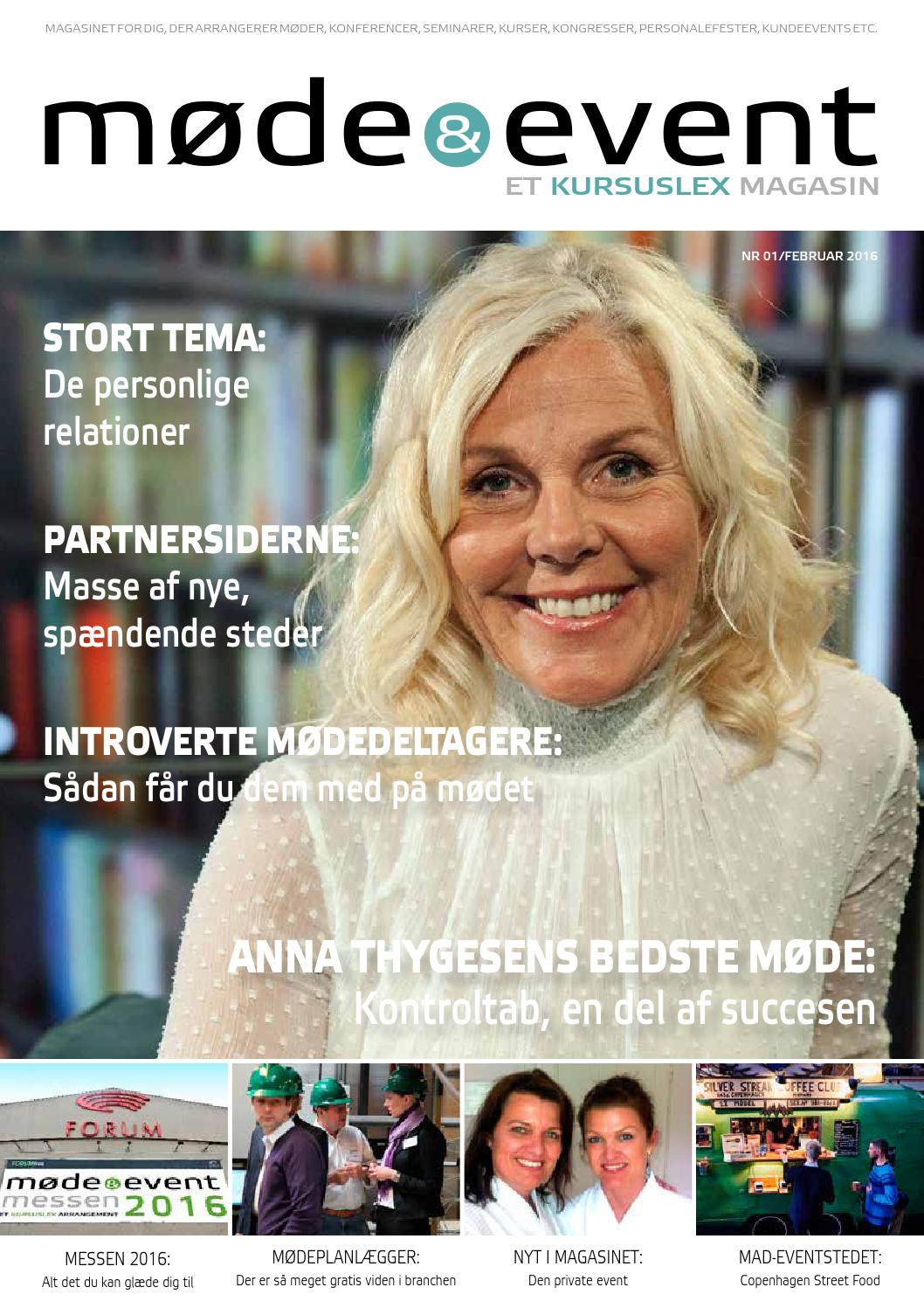 885e31deb248 Møde   Eventmagasinet nr. 1   Februar 2016 by Kursuslex - issuu