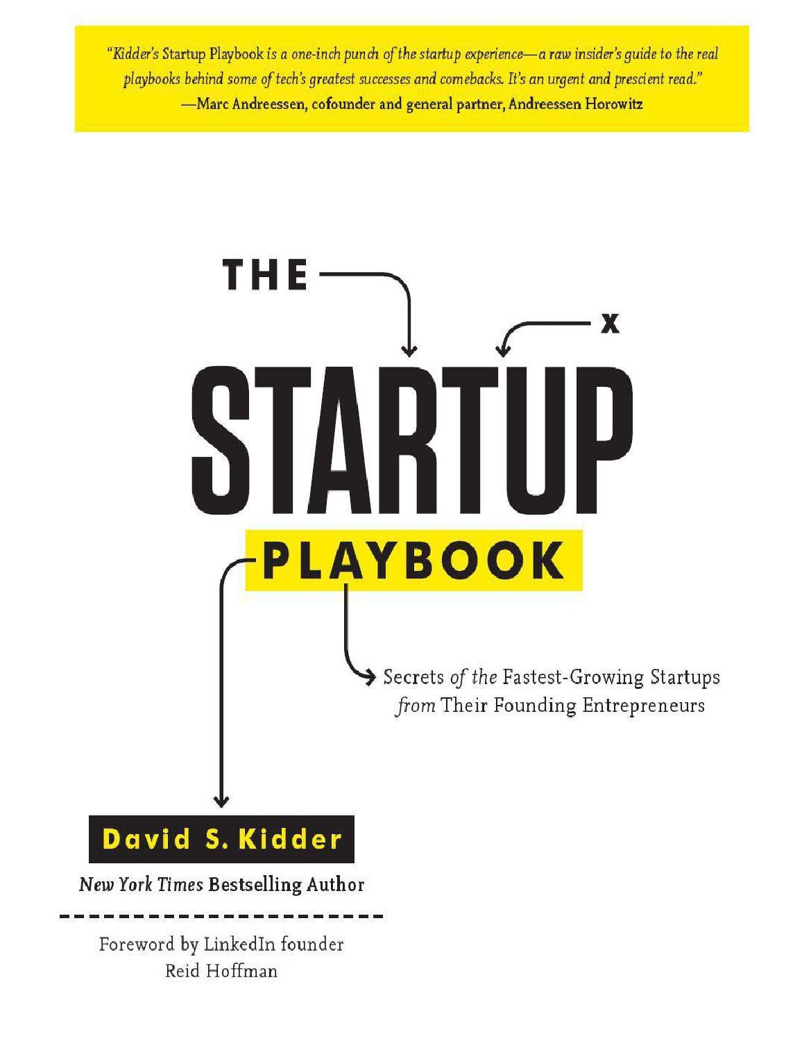 The startup playbook by Marko Milovanovic - issuu