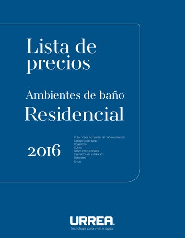 Lp urrea residencial 2016 by urrea m xico issuu for Precio de regaderas