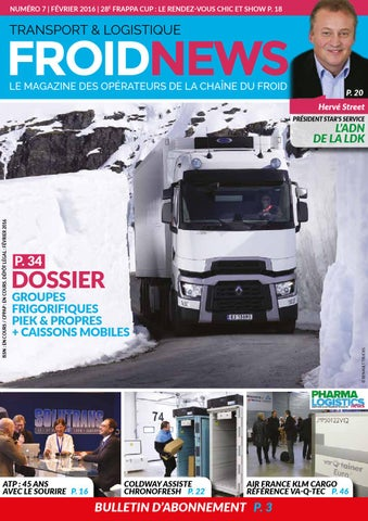 froid news n176 7 f233vrier 2016 by froid news transport