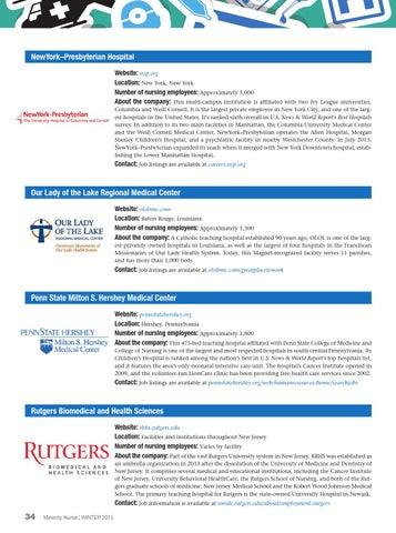Minority Nurse Magazine (Winter 2015) by Springer Publishing