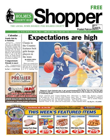 Holmes County Hub Shopper Jan 16 2016 By Gatehouse Media Neo Issuu