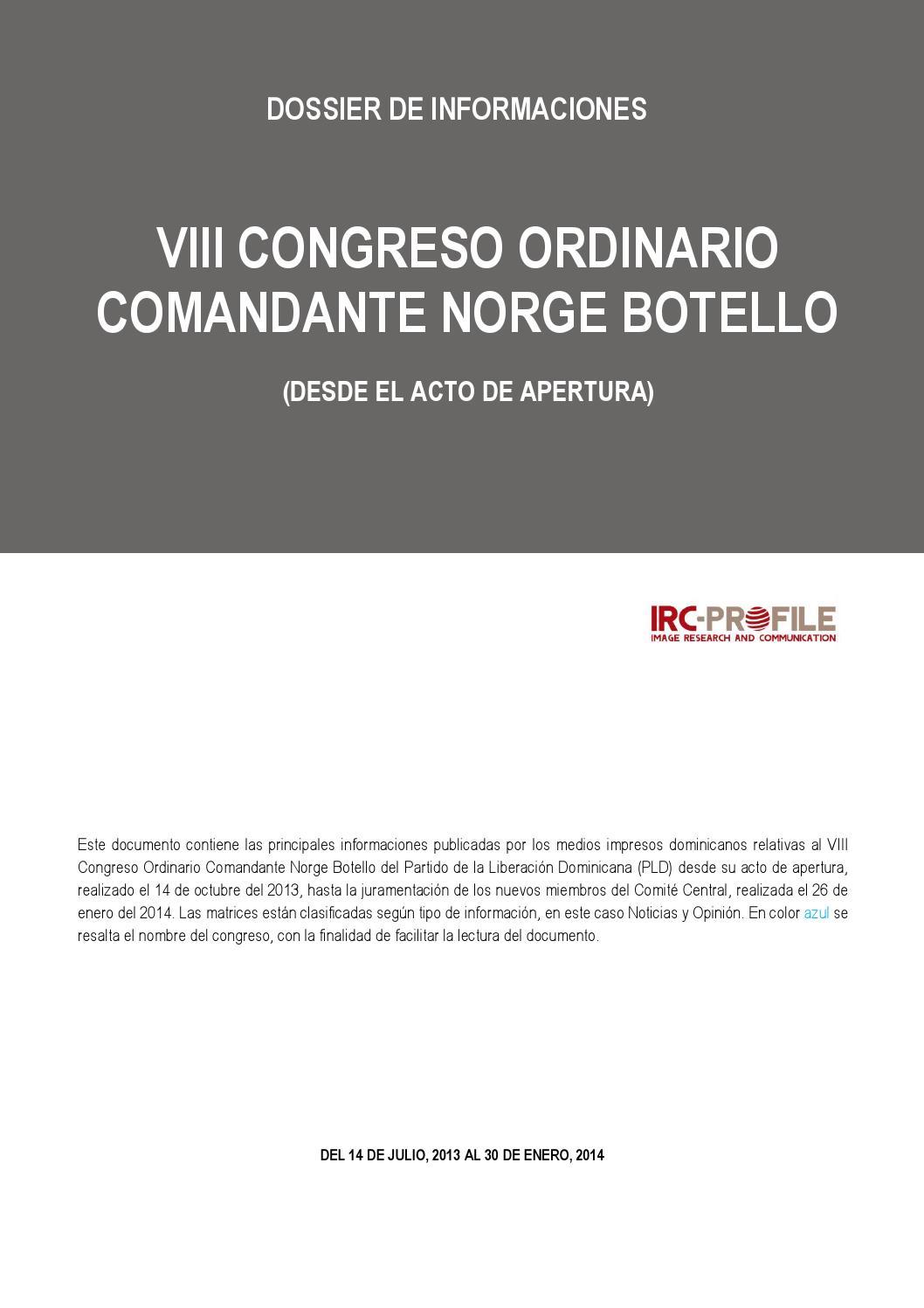 VIII CONGRESO ORDINARIO COMANDANTE NORGE BOTELLO by Juan Rivas - issuu