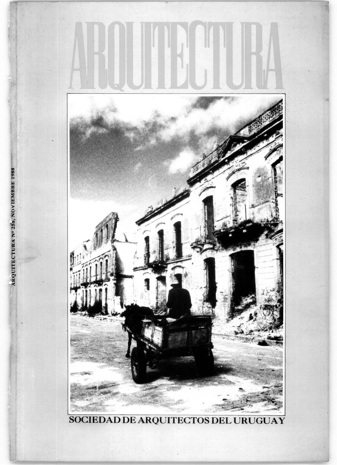 Arquitectura 258 - 1988 by Sociedad de Arquitectos del Uruguay SAU ...