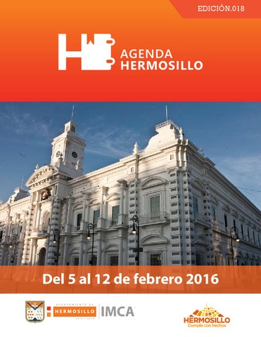 "Cover of ""Agenda Hermosillo del 5 al 12 de febrero"""