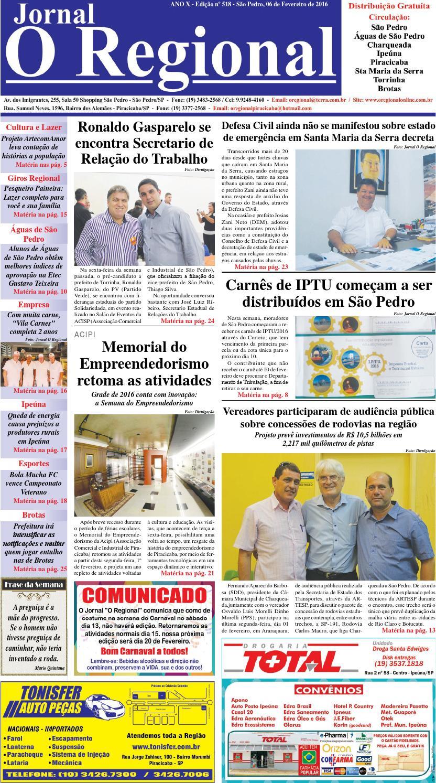Jornal o regional edição 518 06 02 2016 site by Jornal O Regional - issuu e794433065515