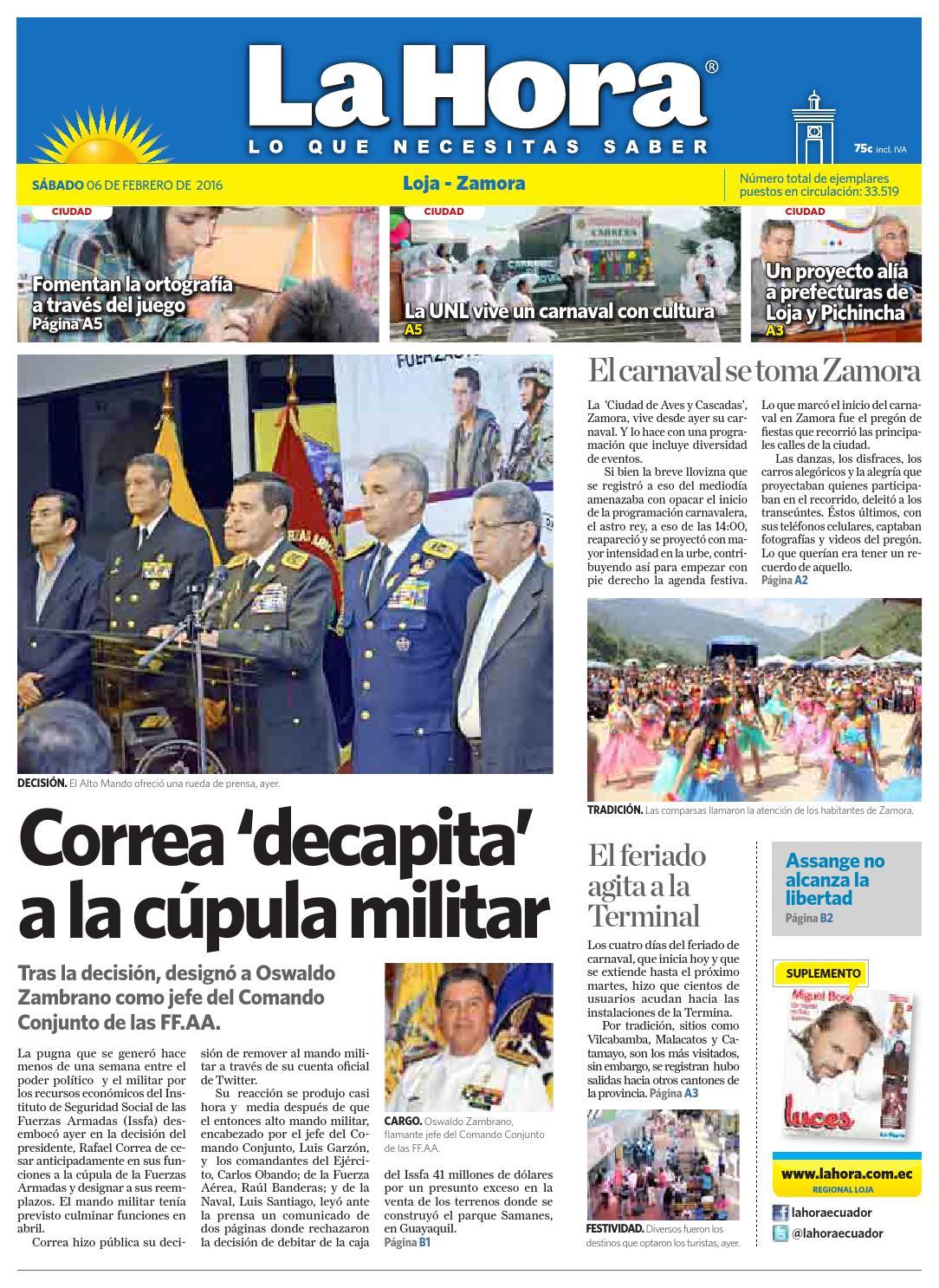 Diario La Hora Loja 06 De Febrero 2013b By Diario La Hora Ecuador  # Muebles Nilda House Quito