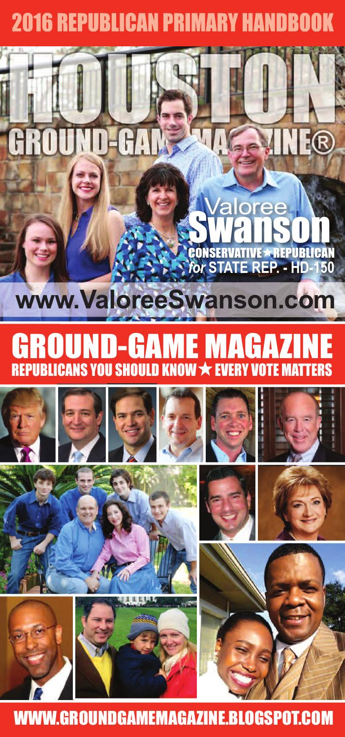 District judge 174th judicial district - Ground Game Magazine Vol 1 No 32 Featuring Valoree Swanson For State Representative Hd 150 By Aubrey R Taylor Communications Issuu