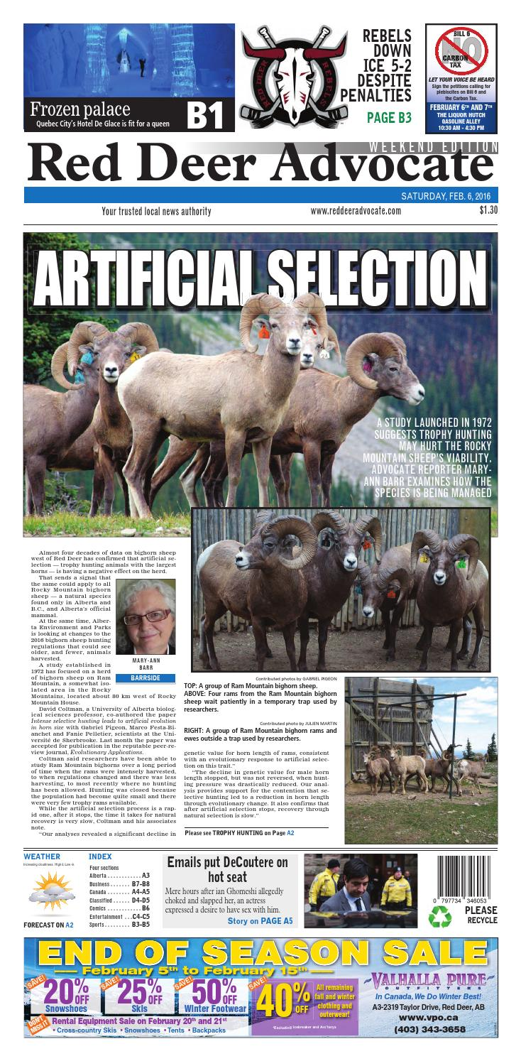 Red Deer Advocate February 06 2016 By Black Press